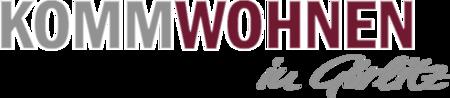 """Logo mit den Schriftzug """"Komm Wohnen in Görlitz"""""""
